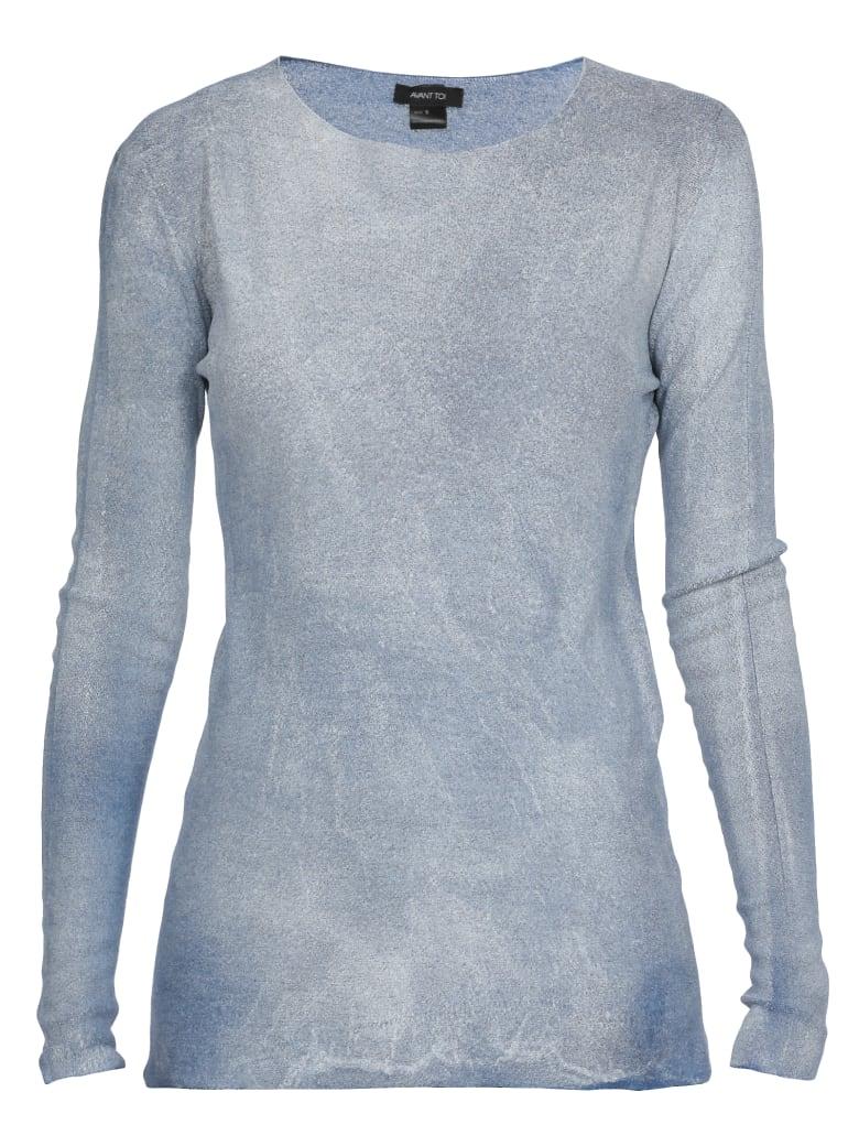 Avant Toi Stretch Sweater - DENIM + LAMINA BIANCA