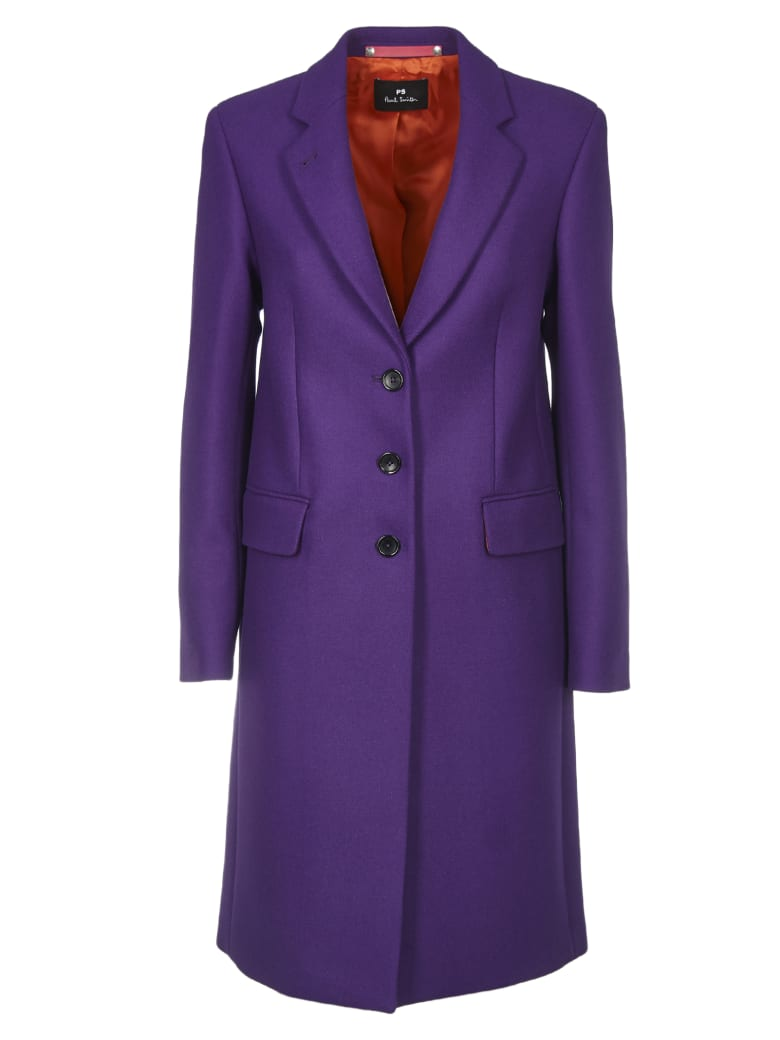 Paul Smith Wool And Cashmere Cioat In Purple Color - Purple