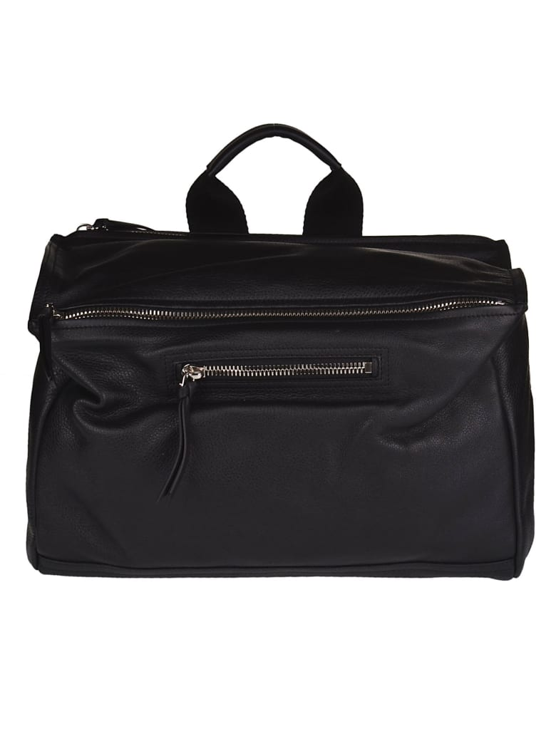 Givenchy Double Zip Shoulder Bag - Black/yellow