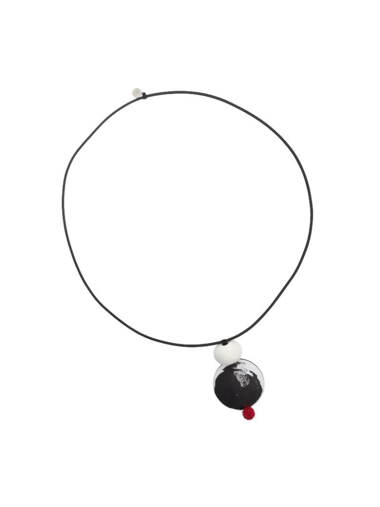 Maria Calderara - Necklace - Black and white