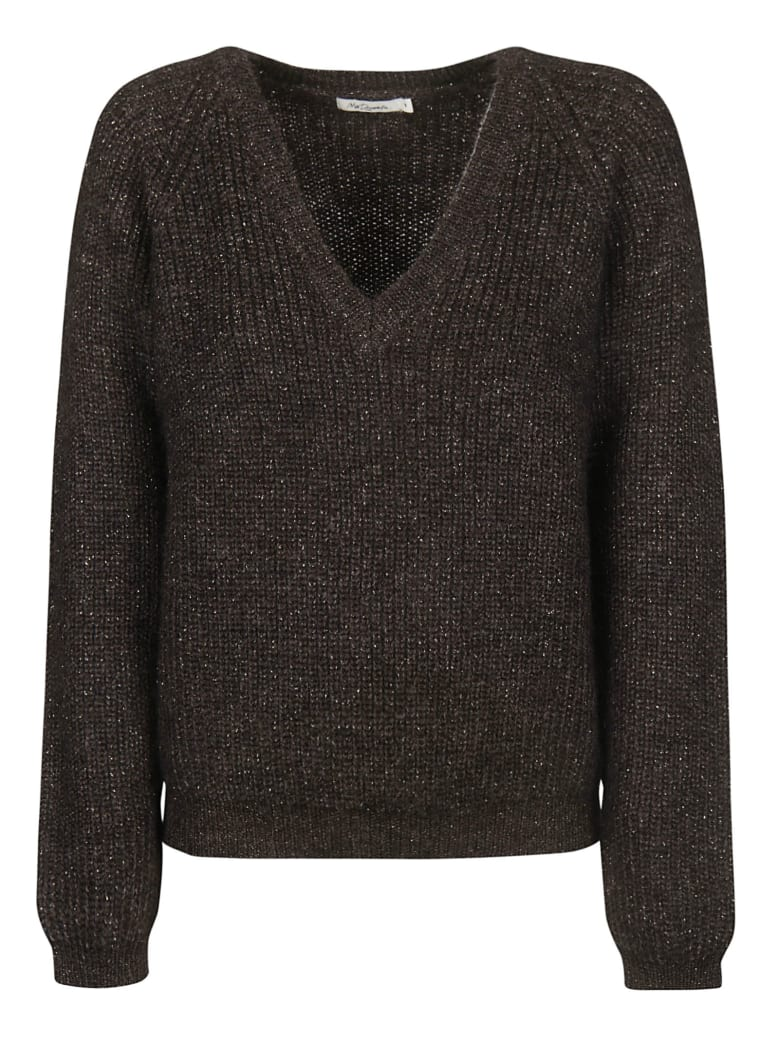Mes Demoiselles V-neck Sweater - Brown