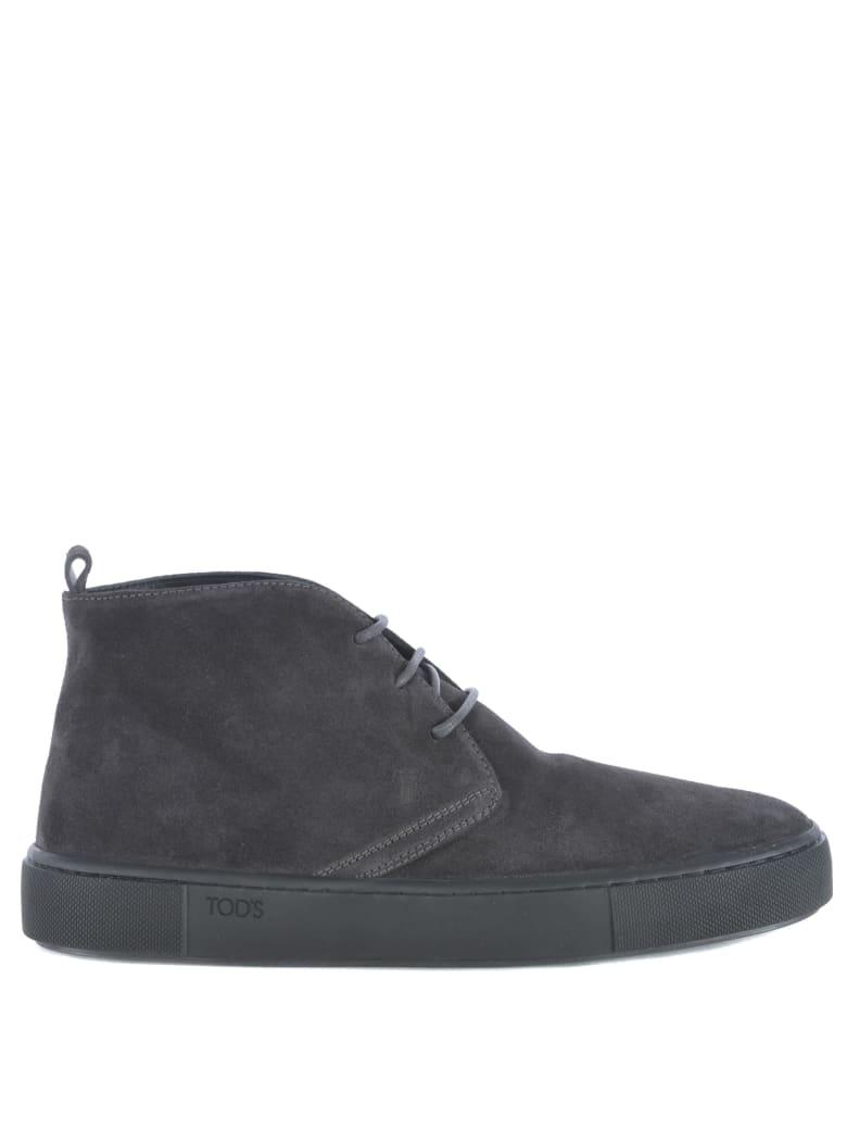 Tod's Polacco Cassetta Ankle Boots - Grigio scuro
