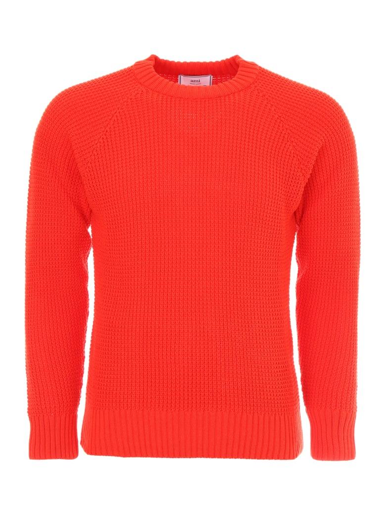 Ami Alexandre Mattiussi Cotton Pullover - RED (Red)