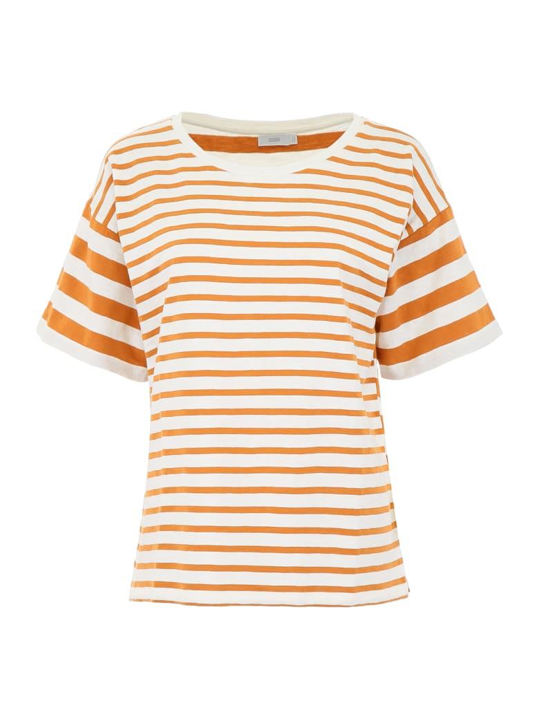 Closed Striped T-shirt - CARAMEL (White)