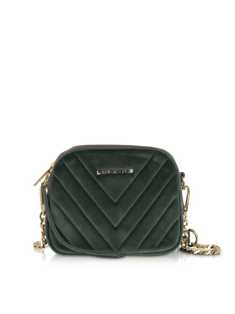 Lancaster Paris Quilted Velvet Couture Mini Camera/belt Bag - Green