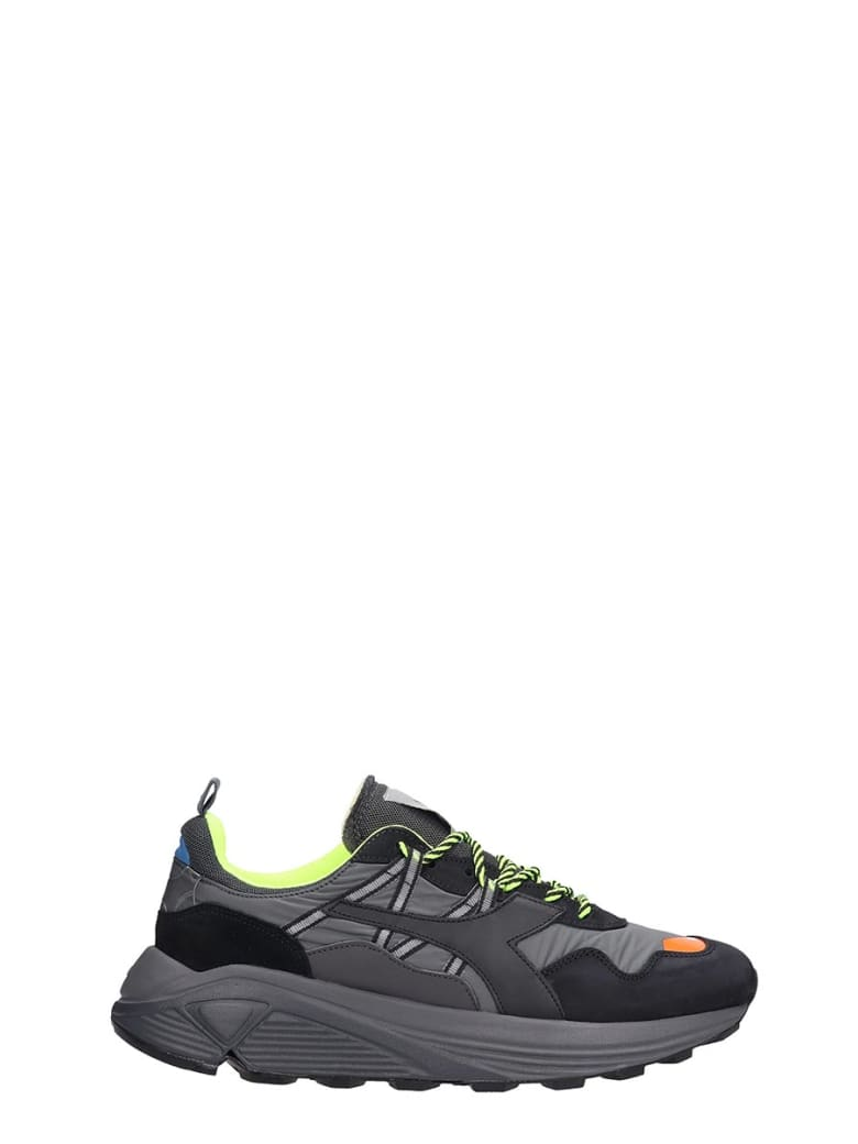 Diadora Rave Leather  Sneakers In Black Leather And Fabric - black
