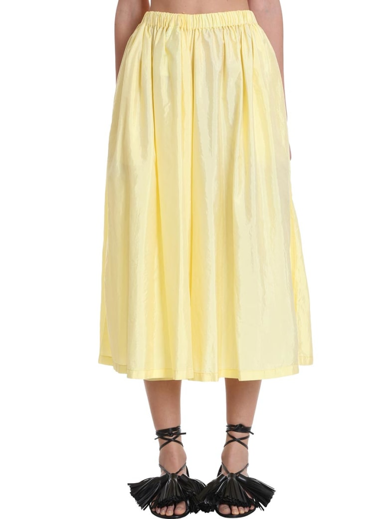 Jil Sander Packway Skirt In Yellow Polyester - yellow