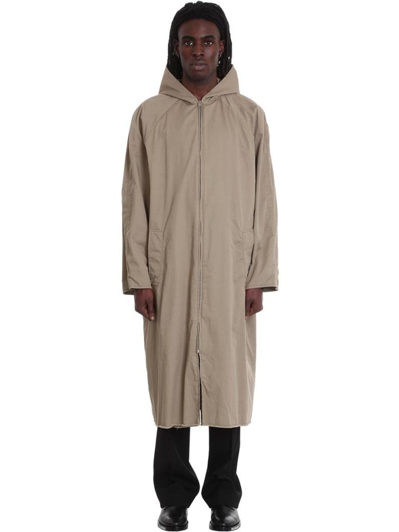 Balenciaga Coat In Beige Cotton - beige