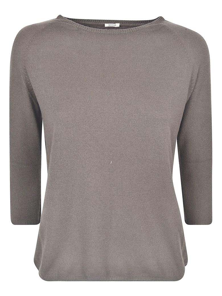 A Punto B Regular Fit Plain Sweater - Walnut