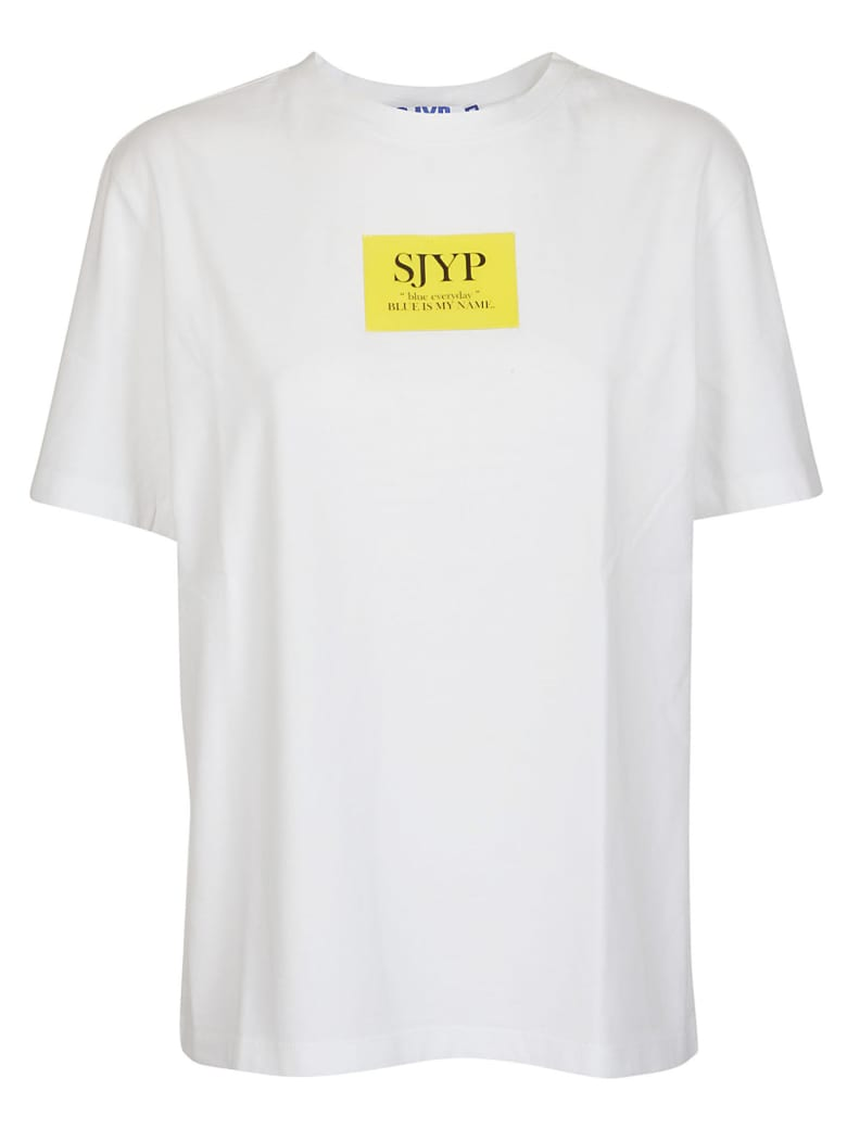 SJYP Logo Print T-shirt - Yellow