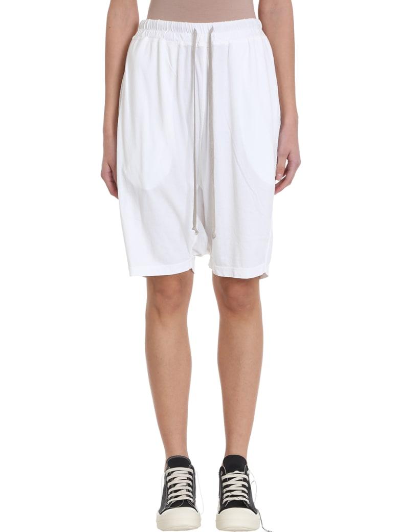 DRKSHDW Pod Shorts - white
