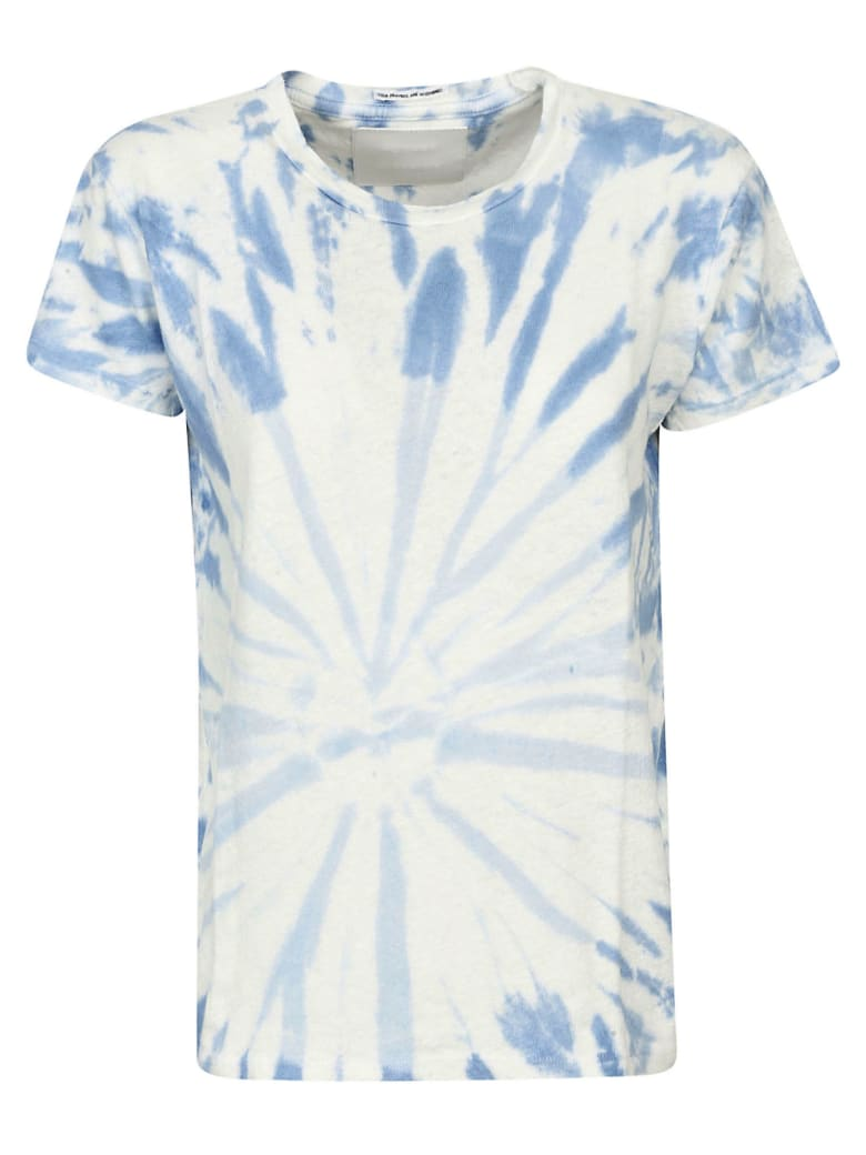 Mother Blue Spiral Out Of Control T-shirt - Blue