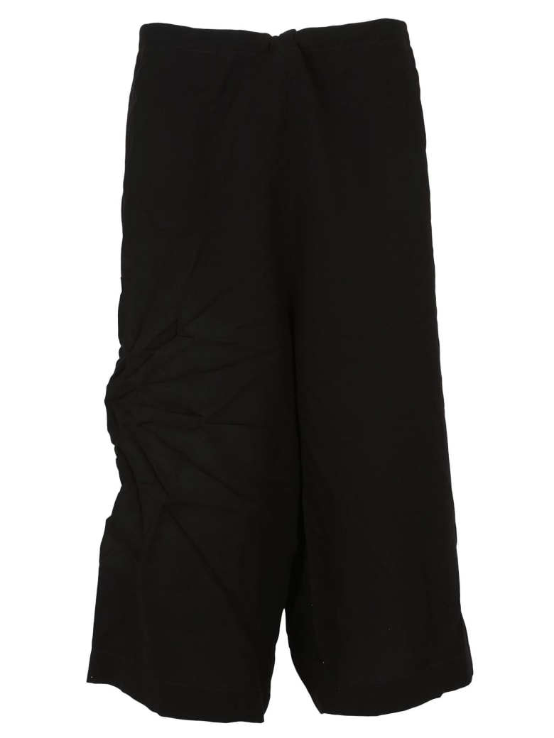 Y's Cropped Trousers - Black