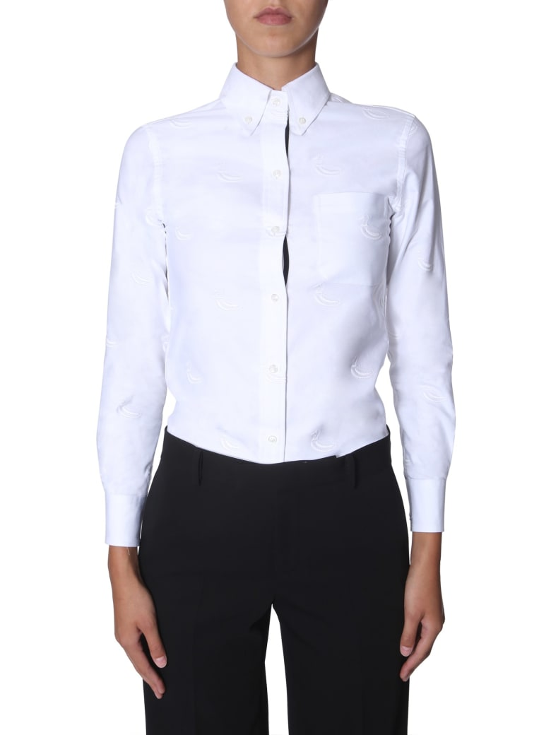 Thom Browne Embroidered Shirt - BIANCO