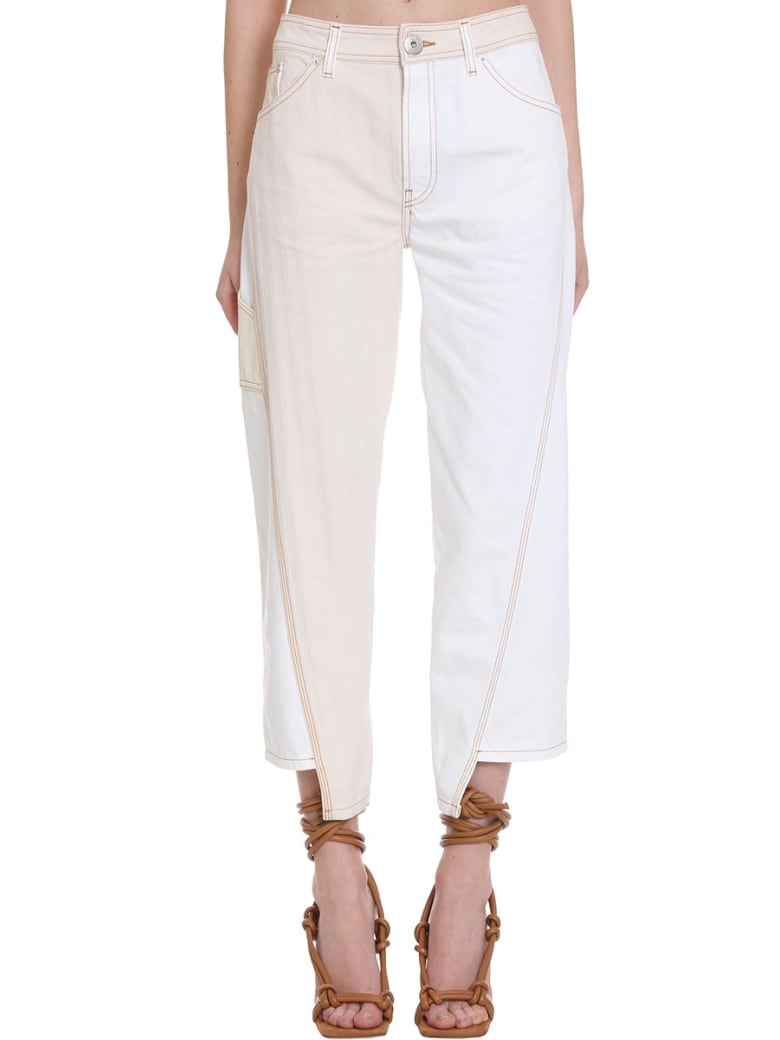 Lanvin Jeans In White Denim - white