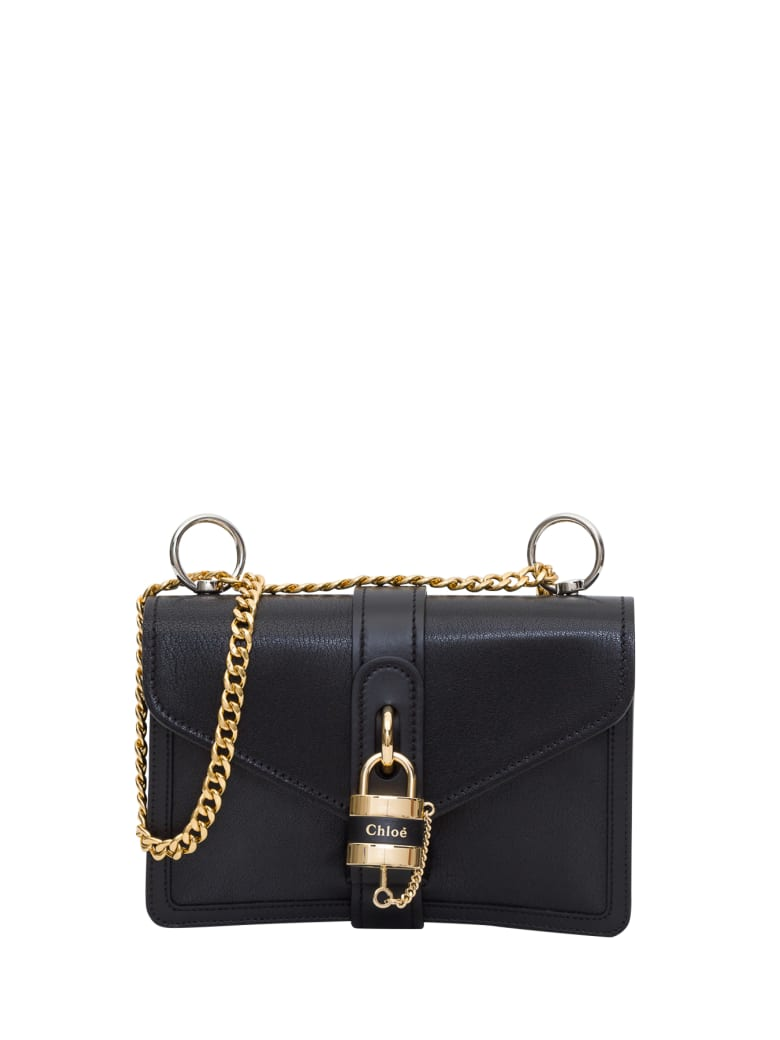 Chloé Aby Chain Crossbody Bag - Nero