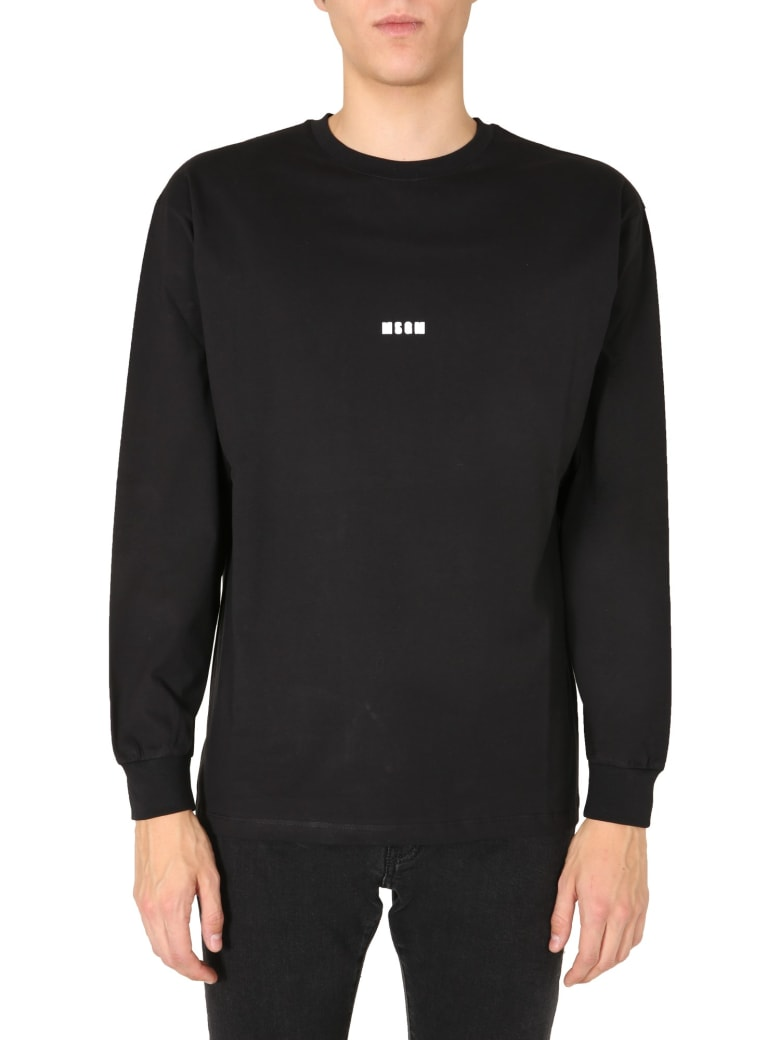 MSGM Long Sleeves T-shirt - NERO