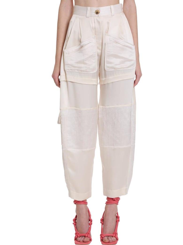 Lanvin Pants In Beige Silk - beige