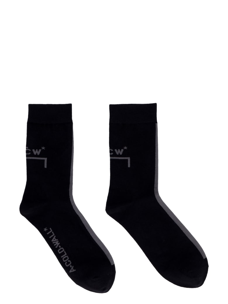 A-COLD-WALL Polycotton Short Socks - black