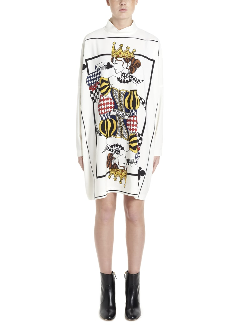 Boutique Moschino 'cards' Dress - White