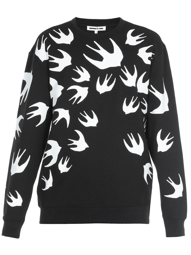 McQ Alexander McQueen Swallow Swarm Print Sweater - Darkest Black