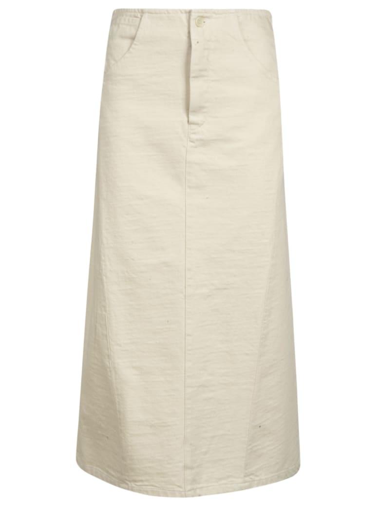 Barena Nicla Button Detail Skirt - Ecru