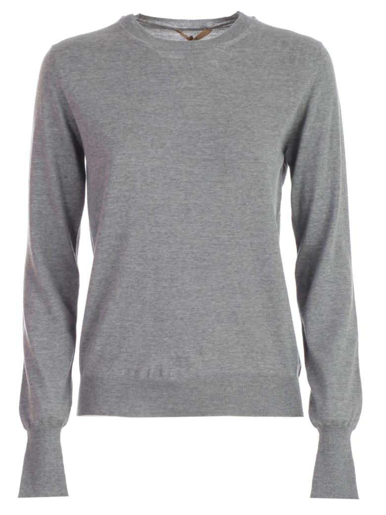 Nuur Sweater L/s Crew Neck Wool - Grigio Medio