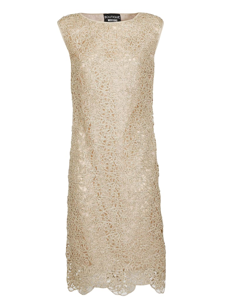 Boutique Moschino Metallic Cut Out Dress - Gold