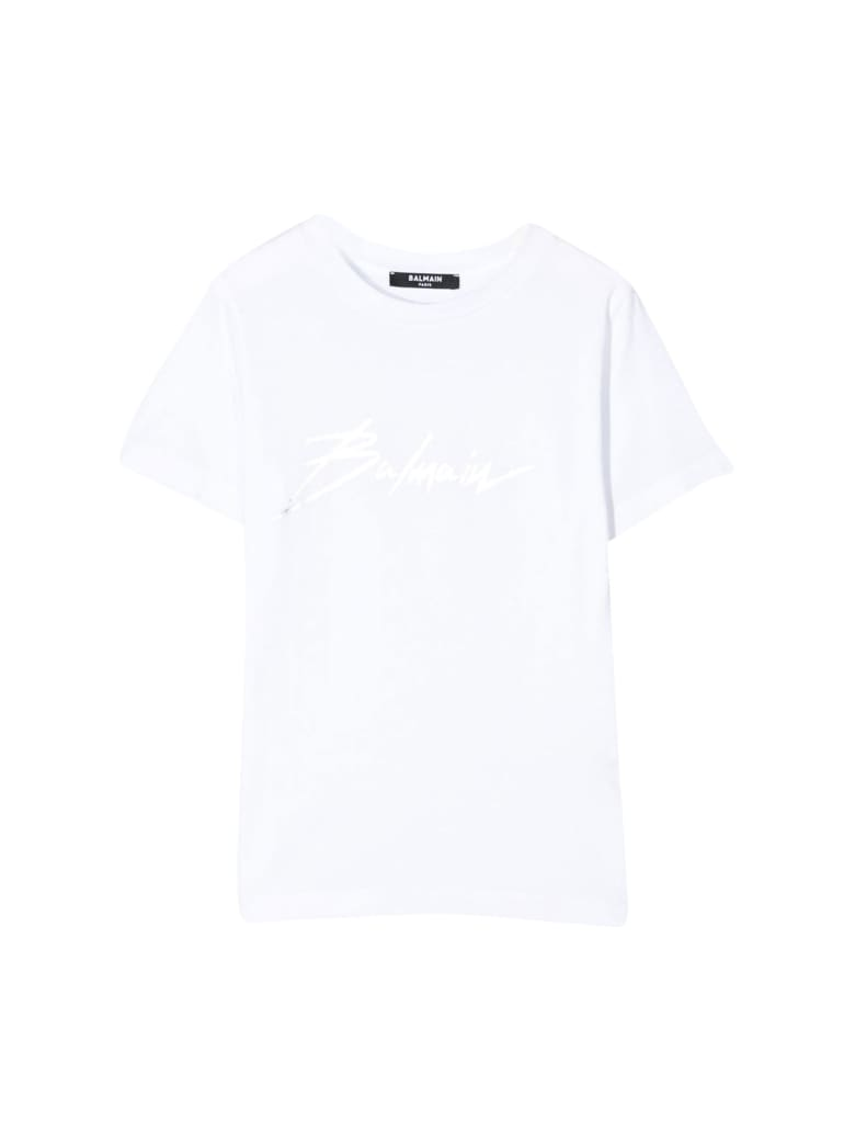 Balmain Kids Printed Crew-neck T-shirt - Bianca