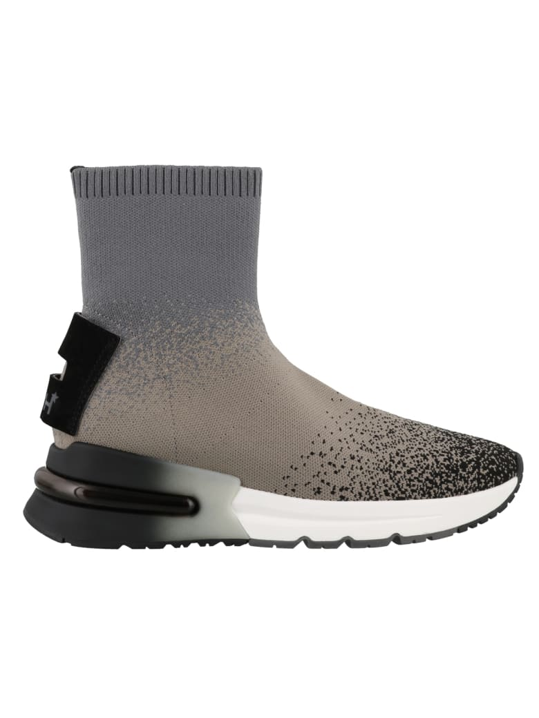 Ash Kimy High Top Sneakers - Blk/taupe/fog-blk