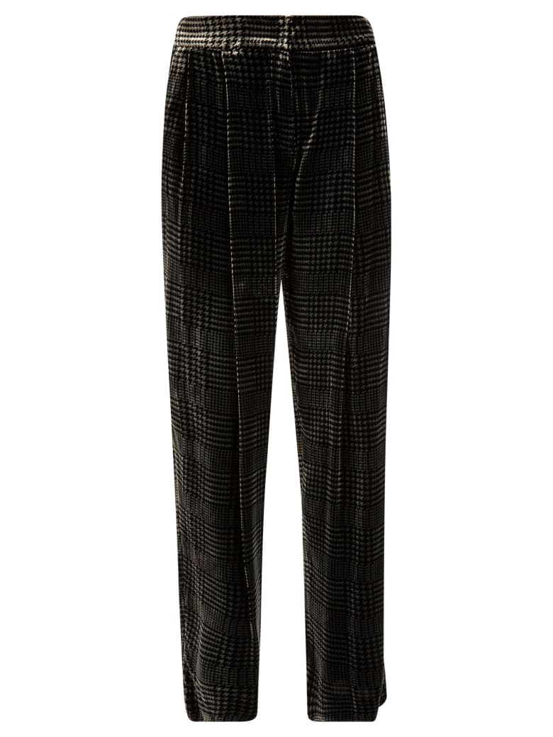 Emporio Armani Checked Trousers - Grigio scuro