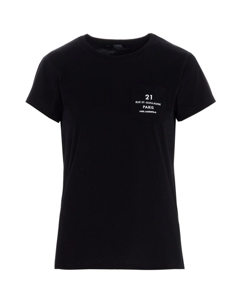Karl Lagerfeld 'rue St Guillame' T-shirt - Black
