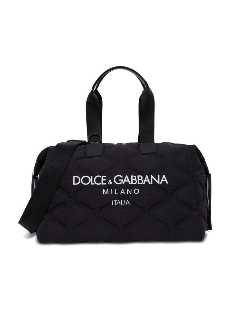 Dolce & Gabbana Logo Print Tote Bag - Black