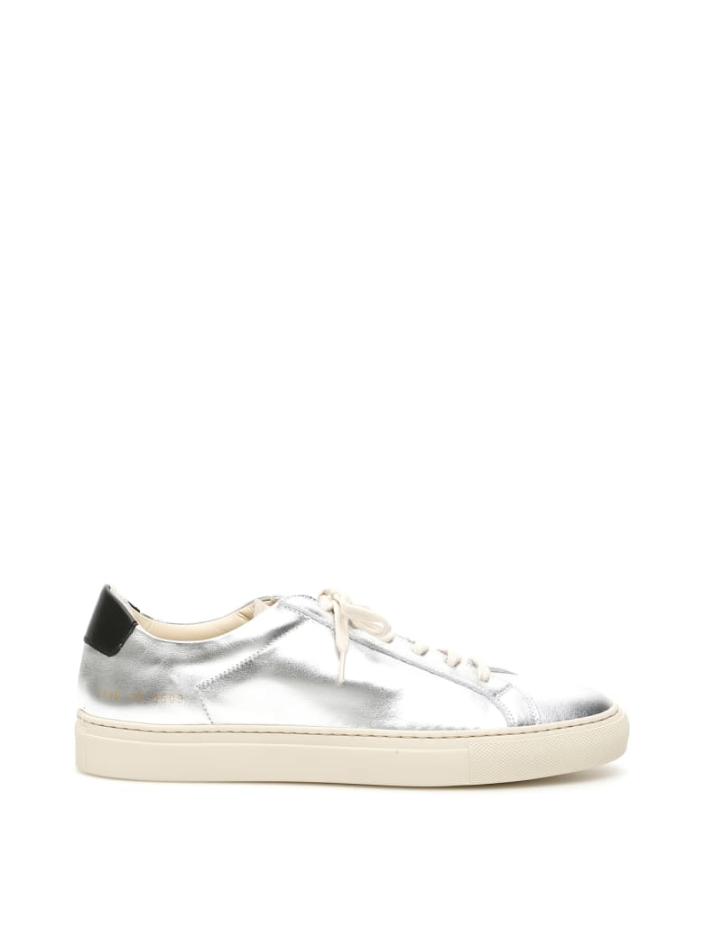 Common Projects Retro Low Special Edition Sneakers - SILVER BLACK (Silver)