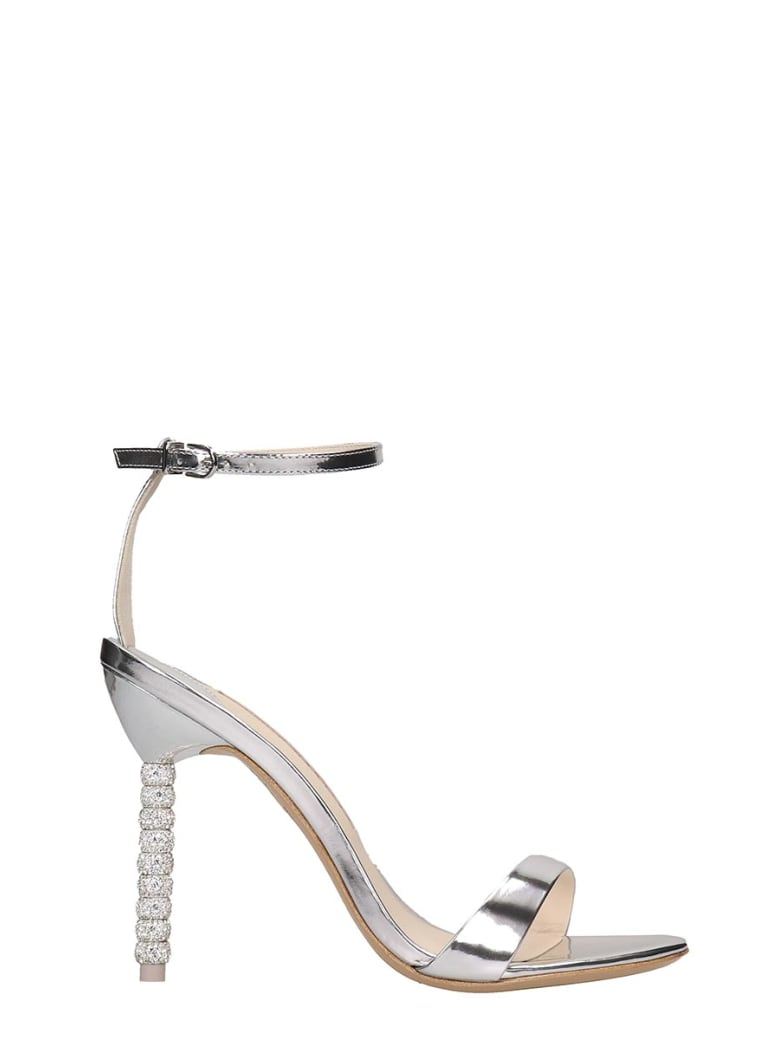 Sophia Webster Haley Sandals In Silver Leather - silver