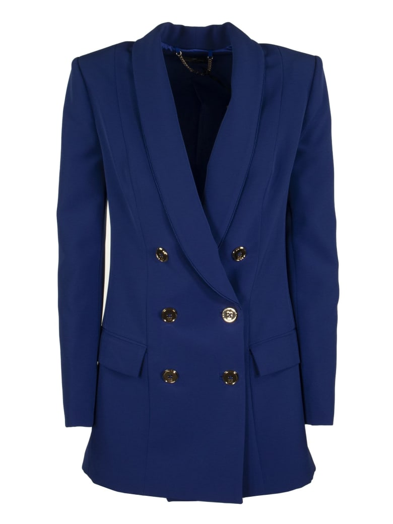 Elisabetta Franchi Celyn B. Double-breasted Tailored Jacket - Cobalt