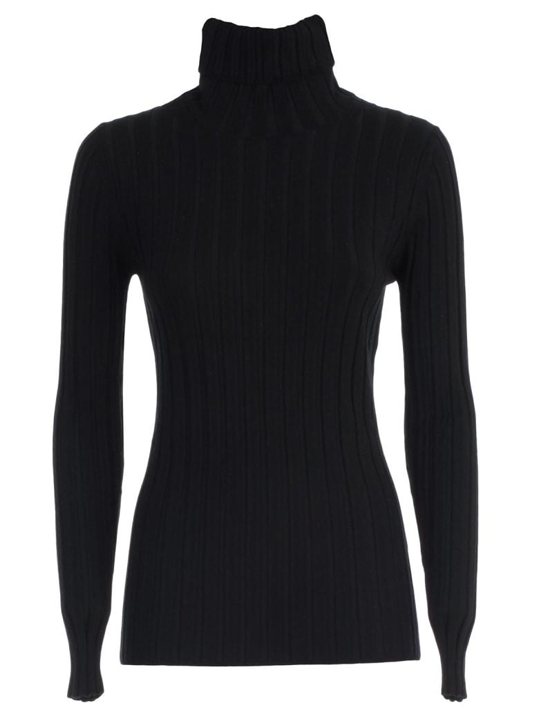 Aspesi Sweater L/s Turtle Neck Merino - Nero