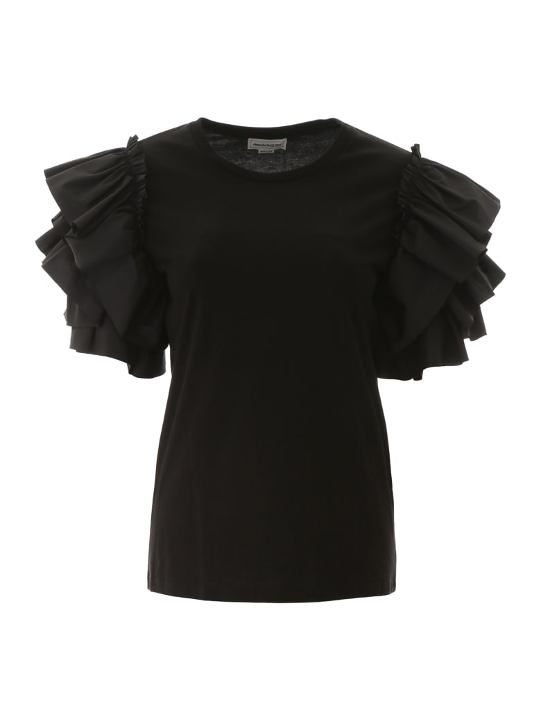 Alexander McQueen Ruffled Top - BLACK (Black)