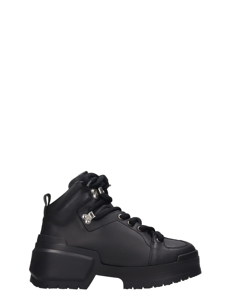 Pierre Hardy Hardy Trapper Combat Boots In Black Leather - black