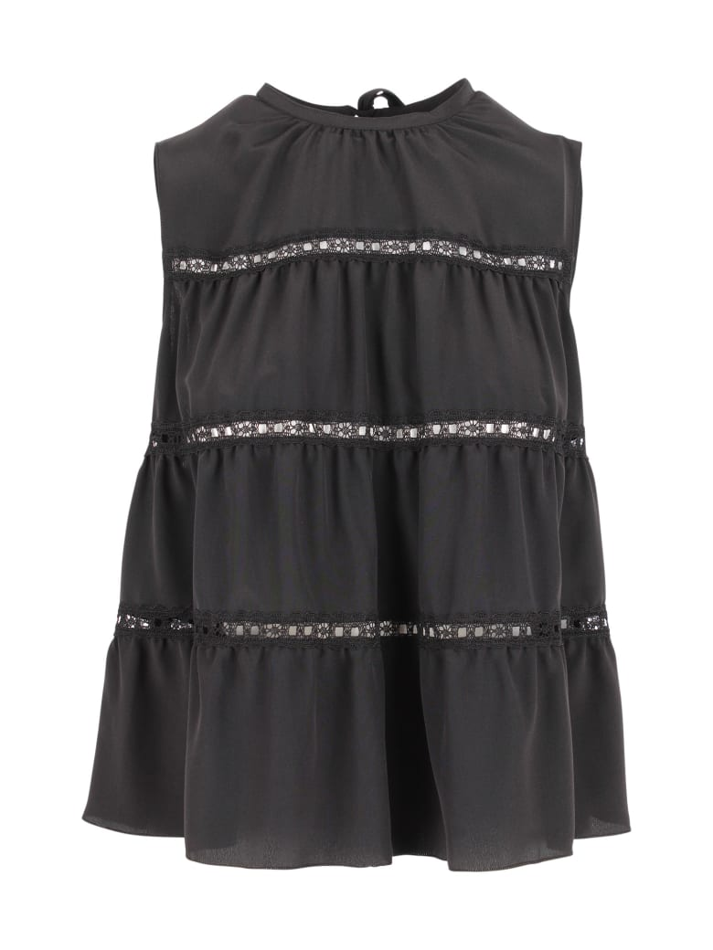 Prada Silk Blouse - Black