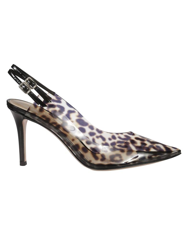 Gianvito Rossi Leopard Print Sandals - Multicolor