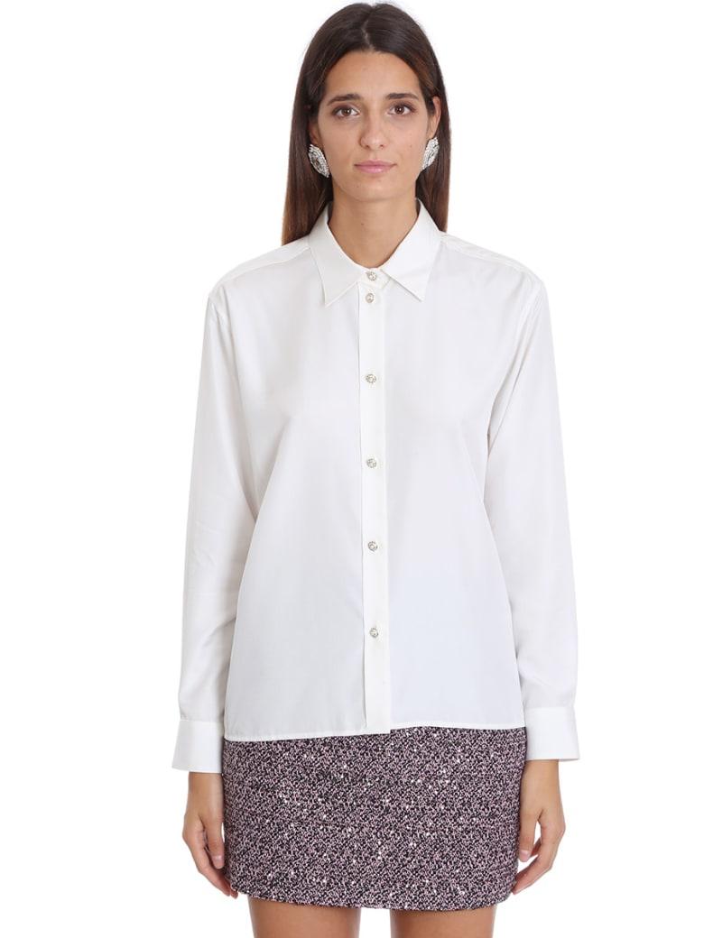 Alessandra Rich Shirt In White Silk - white