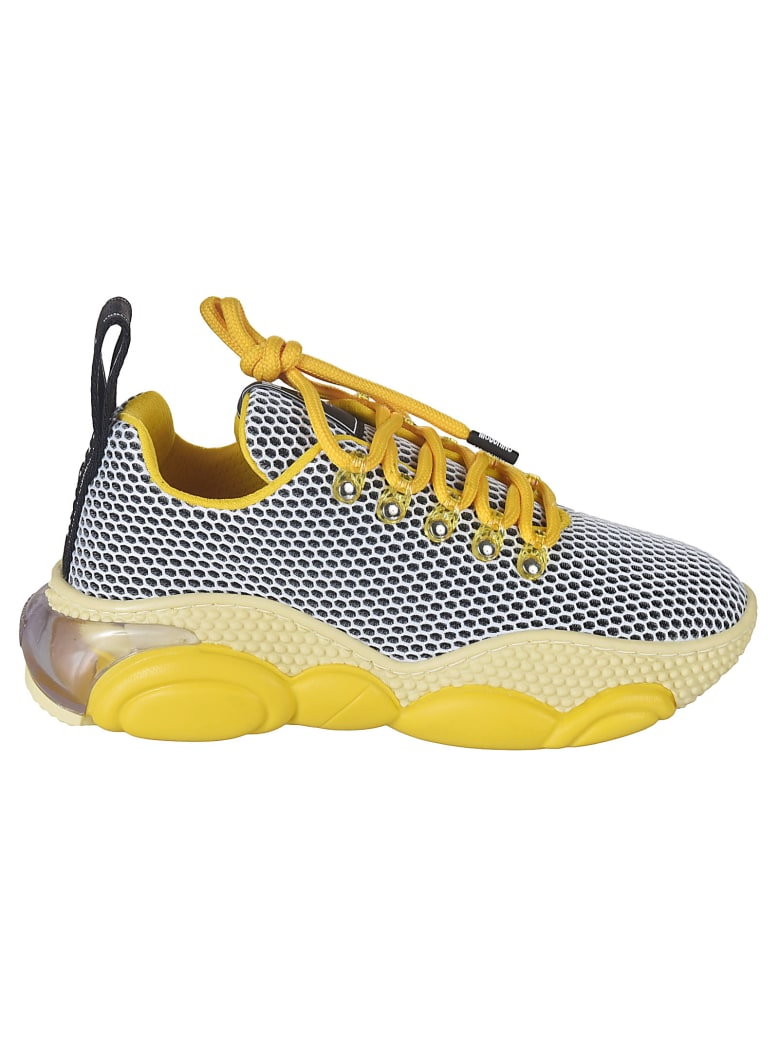 Moschino Laced Mesh Sneakers - Yellow