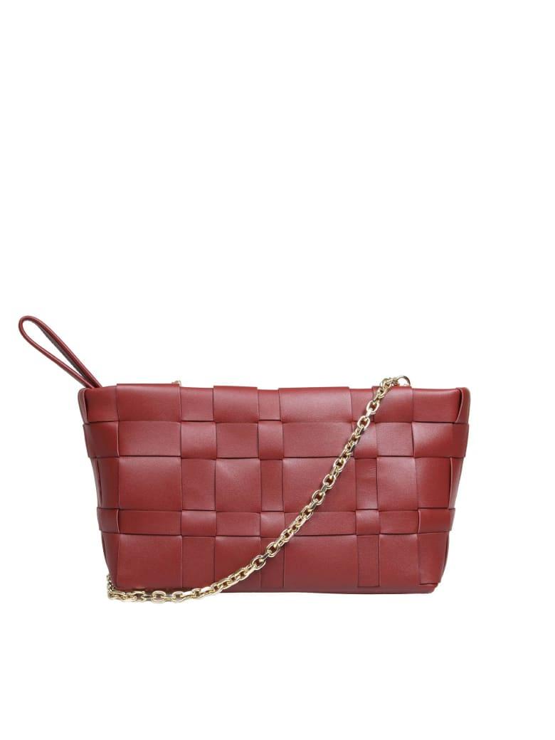 3.1 Phillip Lim Phillip Lim Odita Bag In Burgundy Braided Leather - Leather