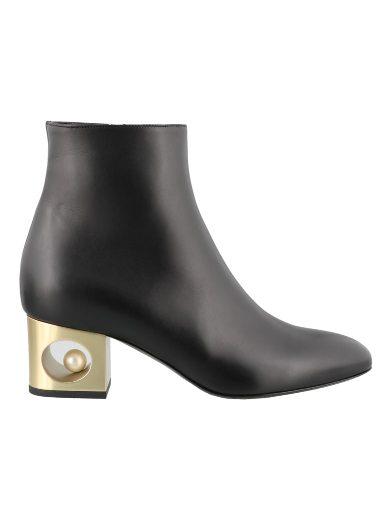 Coliac Penny Ankle Boots - Black