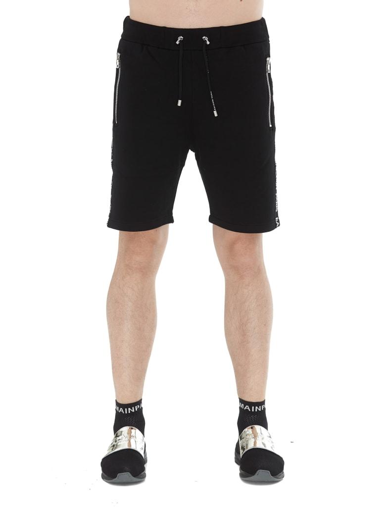 Balmain Basketball Logo Shorts - Black