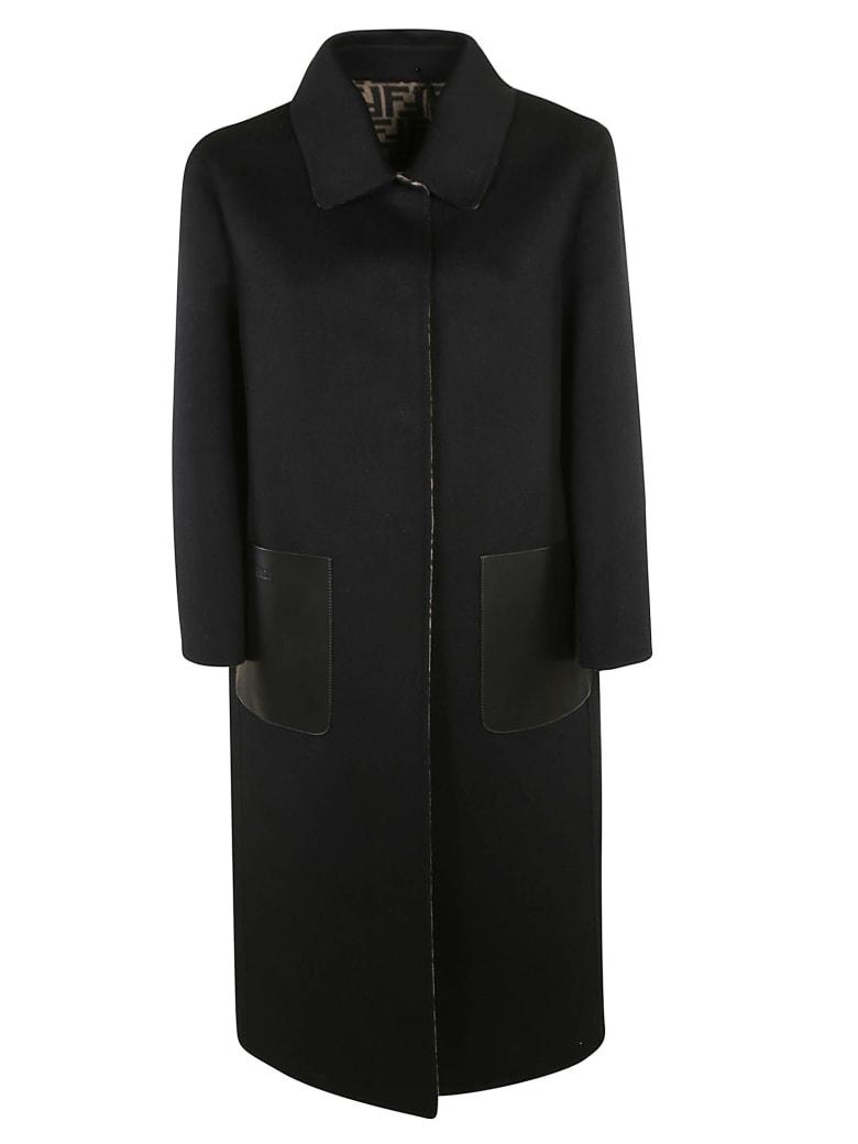 Fendi Ff Double Wool Coat - black