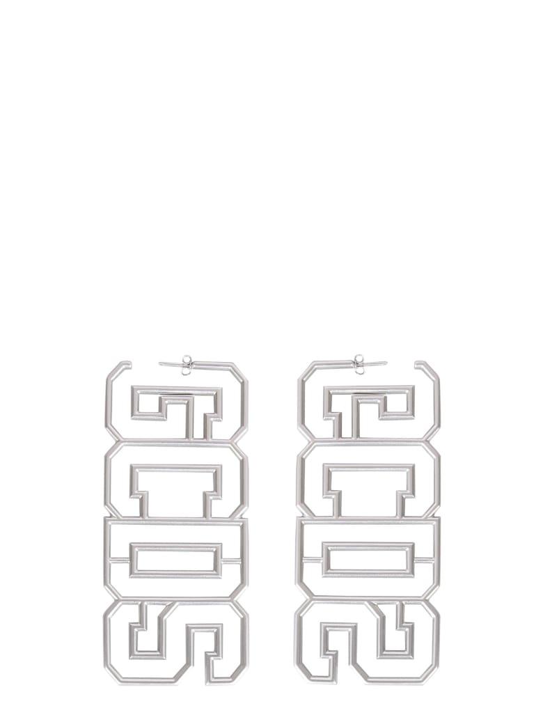 GCDS Earrings With Logo - ARGENTO