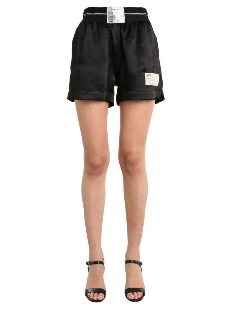 Helmut Lang Shorts With Patch - NERO