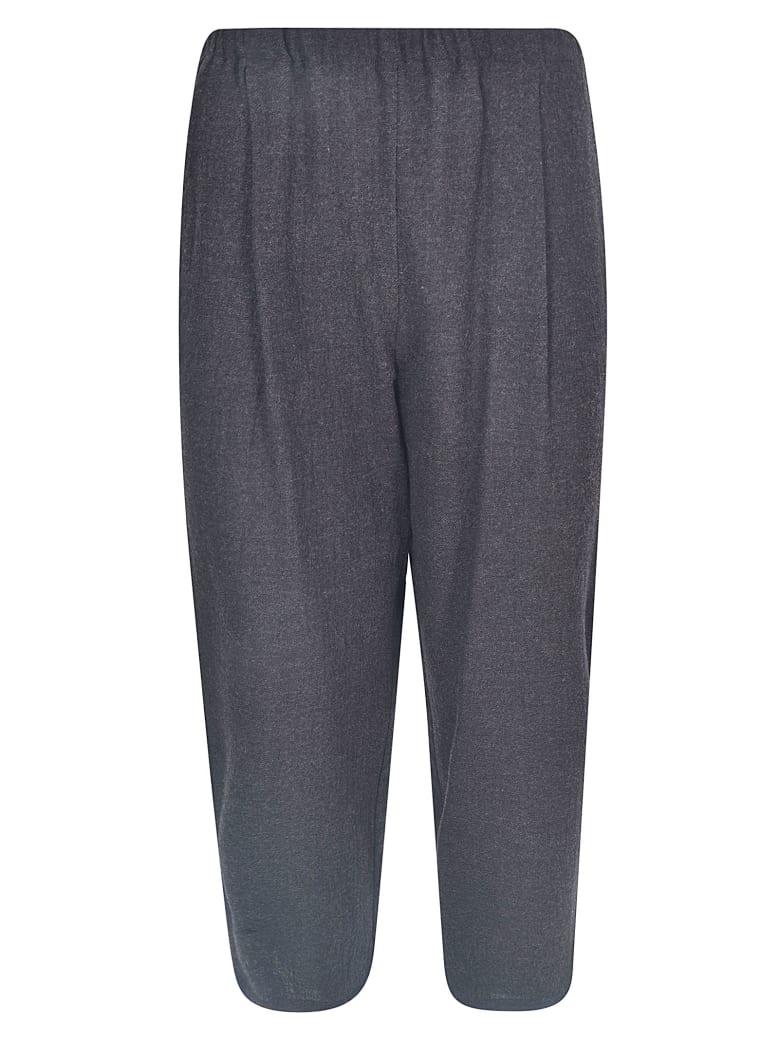 A Punto B Cropped Wide-leg Trousers - Grey/Brown